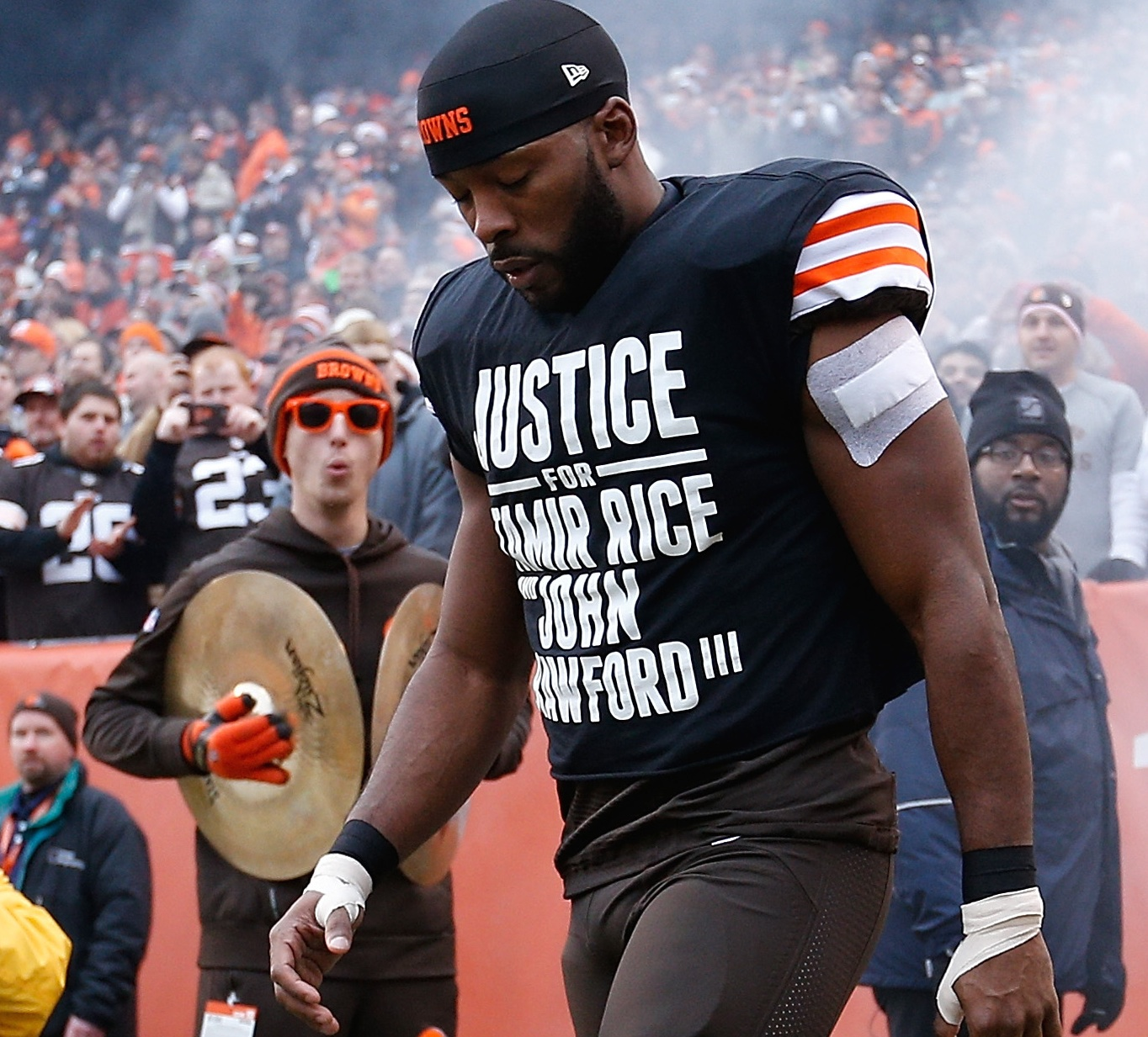 Cleveland police union objects to Andrew Hawkins' pre-game T-shirt ...