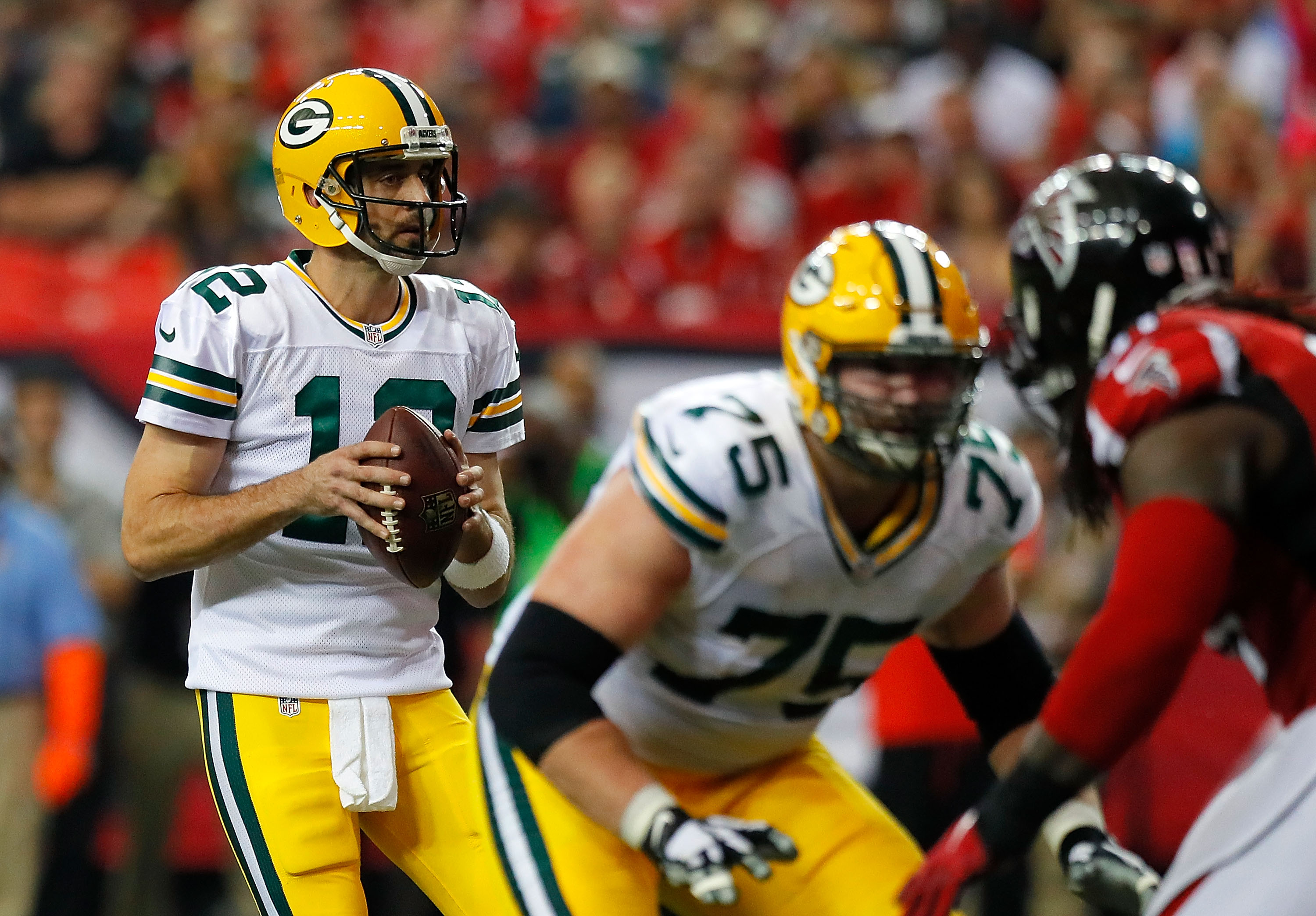 Aaron Rodgers It S Loud In Atlanta Whether It S All Natural Or Not Profootballtalk