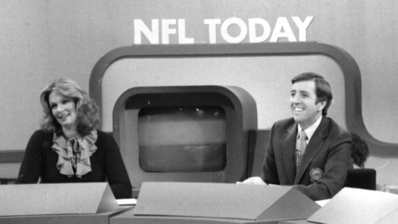 Phyllis George and Brent Musburger