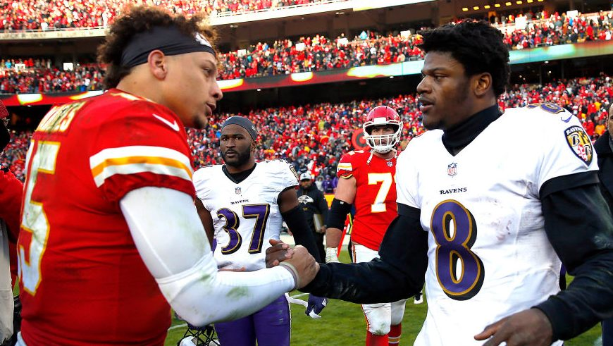 "Lamar Jackson on Patrick Mahomes: ""I've got to get where he's at"""