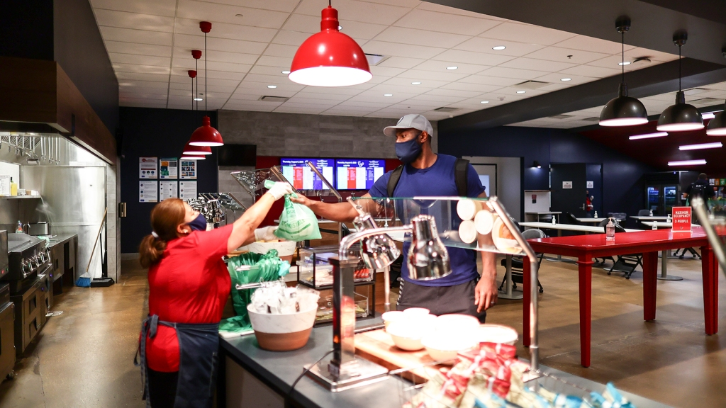 Texans team cafeteria
