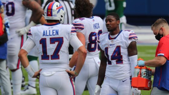 Stefon Diggs On Josh Allen You Want To Go Hard For This Guy Profootballtalk