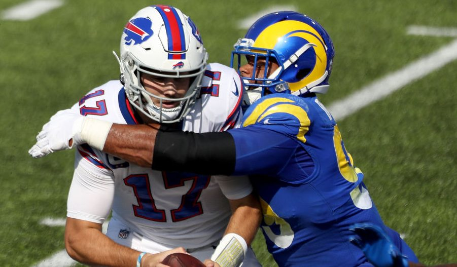 """Josh Allen to Aaron Donald before today's game: """"Take it ..."""