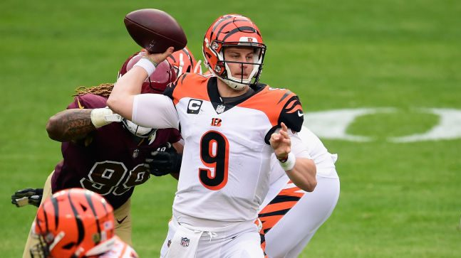 Bengals quarterback Joe Burrow, the first overall pick in the 2020 draft, has suffered a left leg injury during Sunday's game at Washington. Moving carefully and not putting weight on the left leg, Burrow was helped to a cart. Burrow has been fearless through…