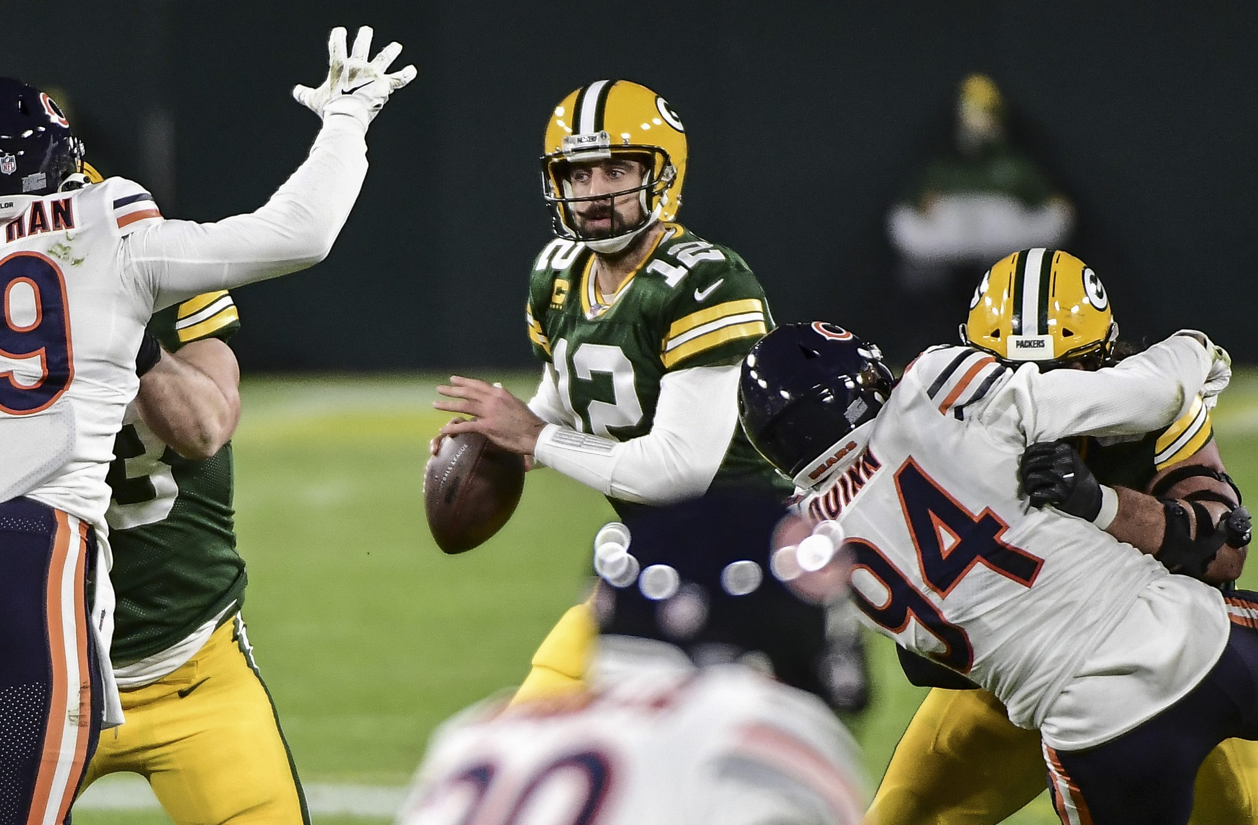 Sunday Night Football: Aaron Rodgers throws four TDs as Packers rout Bears - NBC Sports - NFL