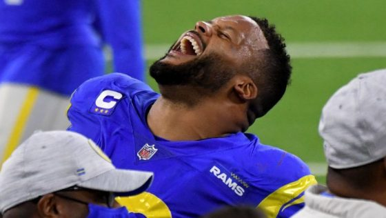 Los Angeles Rams defeat the New England Patriots 24-3 during a NFL football game.