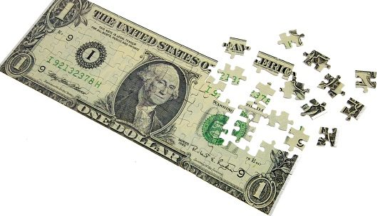 dollar banknote puzzle