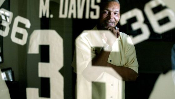 Former Oakland Raider safety Mike Davis has become deaf, a condition he contends is a result of blow