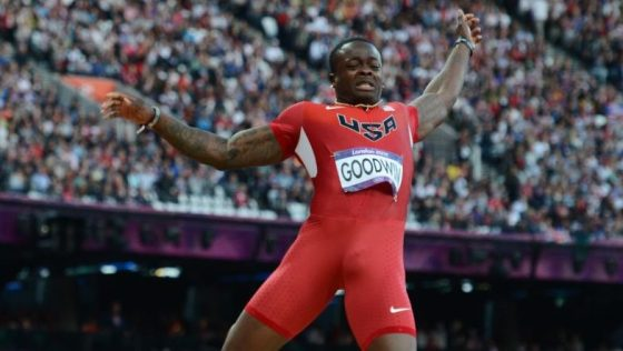 US' Marquise Goodwin competes during the