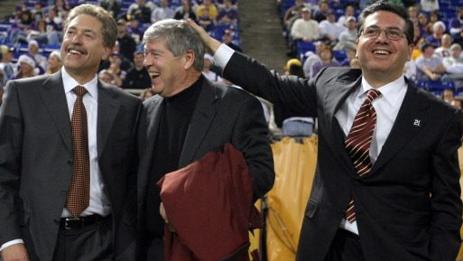 Redskins part-owners Robert Rothman, left, and Dwight Schar with