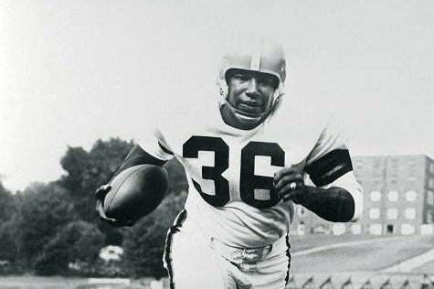 Marion Motley Running with Football