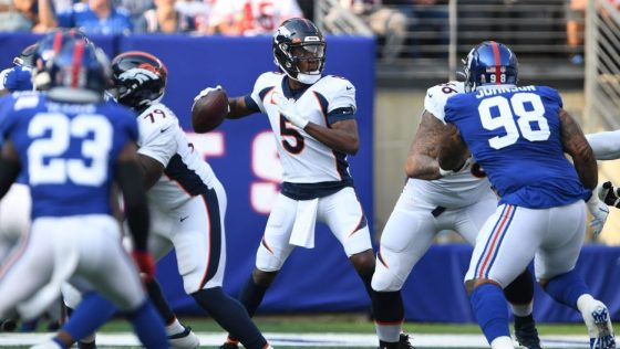 Denver Broncos and the New York Giants at MetLife Stadium