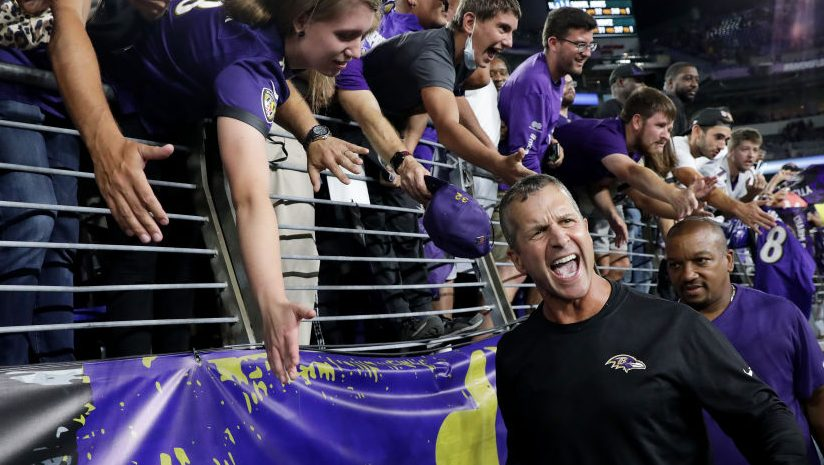 John Harbaugh knew he was in four-down territory