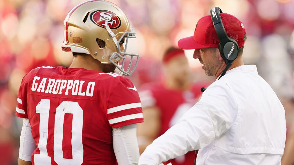 Kyle Shanahan denies that Patriots tried to trade for Jimmy Garoppolo before the draft