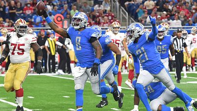 NFL: SEP 12 49ers at Lions