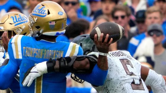 Oregon Ducks defeated the UCLA Bruins 34-31 during a NCAA Football game at the Rose Bowl in Pasadena.